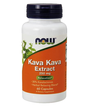 Now Kava kava extract 250 mg 60 cps