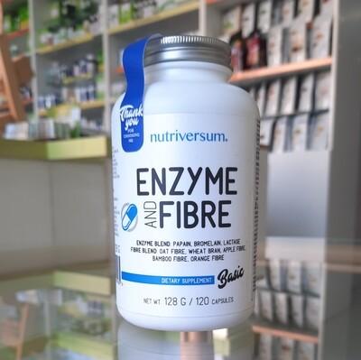 Nutriversum - Enzyme and fibre (enzimi i vlakna za probavu) 120 kps