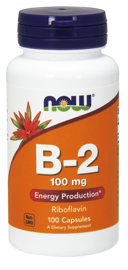 Now Vitamin B-2 100 mg 100 kps