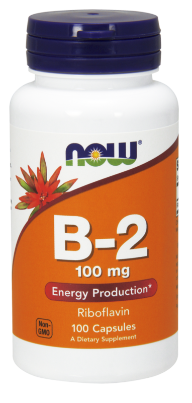 Now Vitamin B-2 100 mg 100 kps