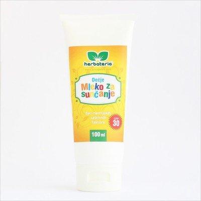 Herbateria - Mleko za sunčanje za decu SPF 30 100 ml/ 200 ml