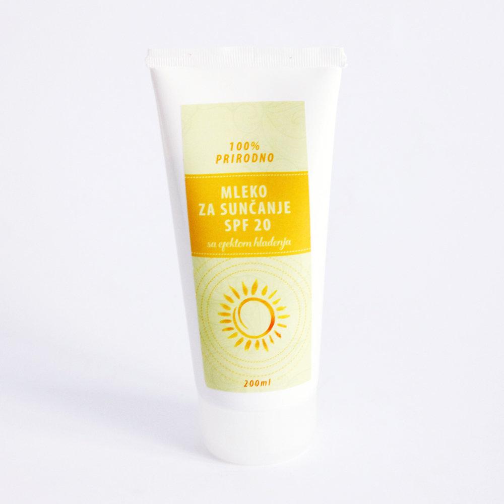 Herbateria - Mleko za sunčanje SPF 20 sa efektom hlađenja 200 ml