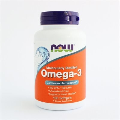 NOW Foods - Omega-3 1000 mg (100 i 200 kapsula)