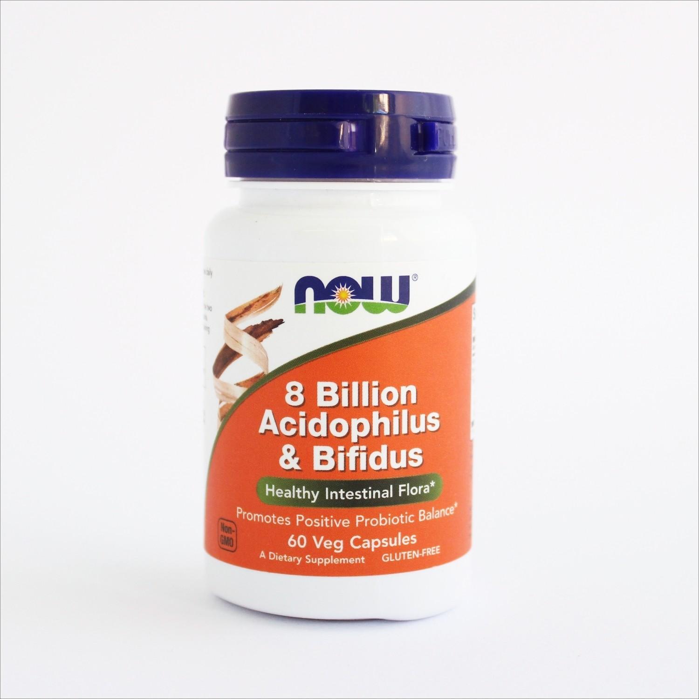 Now 8 Billion Acidophilus & Bifidus