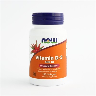 Now Vitamin D-3 400 IU - za jake kosti (180 kapsula)