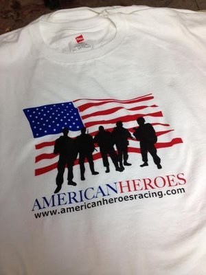 American Heroes White T-Shirts