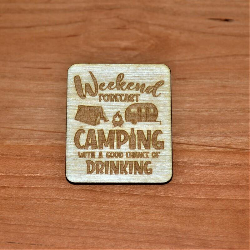 Weekend Forecast Wooden Magnet