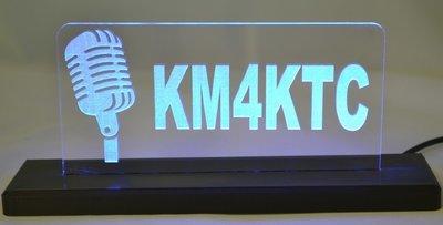 Retro Mic LED Desktop Sign