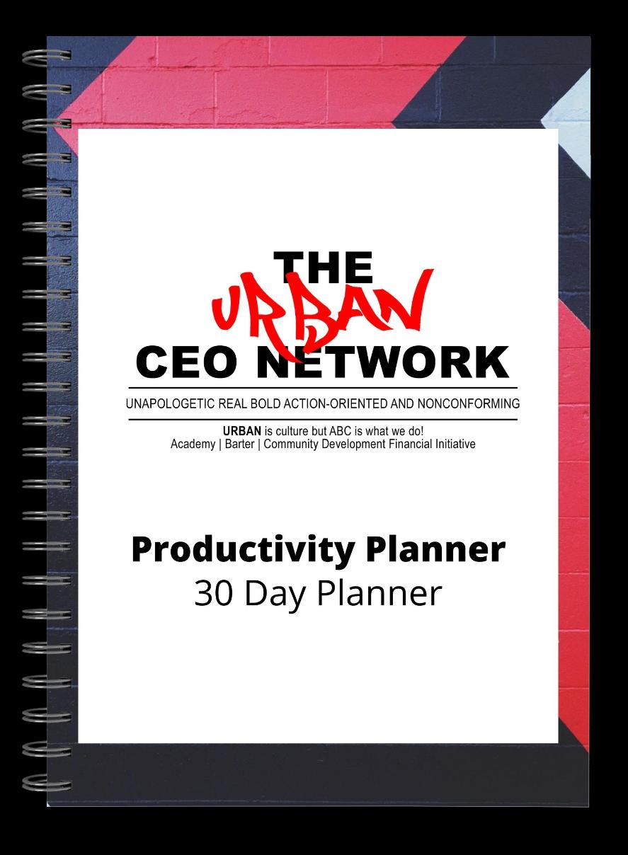 Urban CEO Productivity Planner 00021
