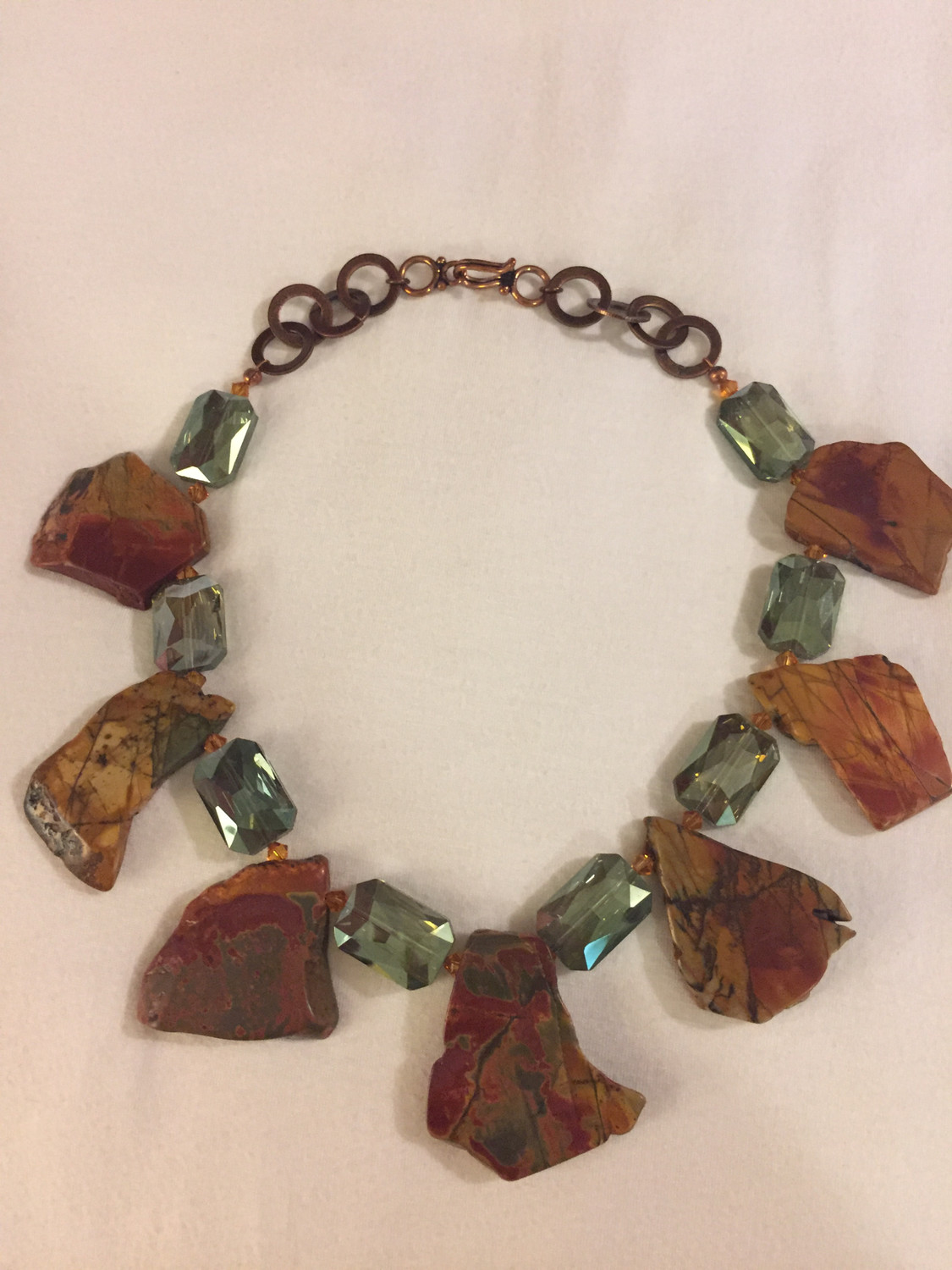 Red Creek Jasper with crystals