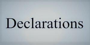 Tiffany Lakes Declaration