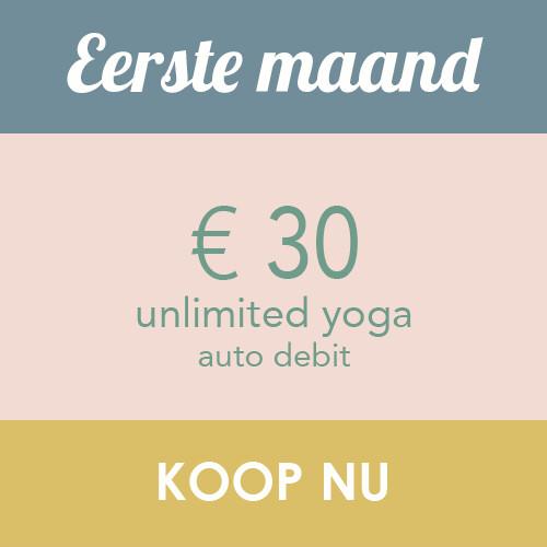 Unlimited Yoga - eerste maand