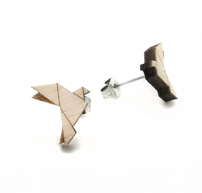 Origami Fly Wood Dove / Nature / SMALL OR_FL_WO_DO_SM