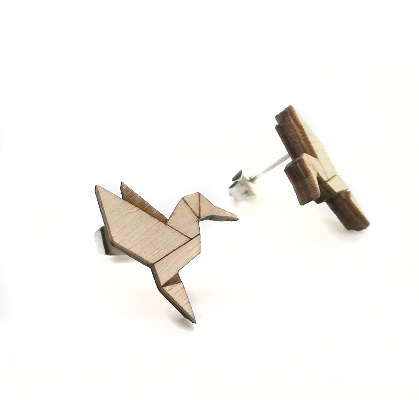 Origami Fly Wood Hummingbird / Nature / SMALL OR_FL_WO_SM