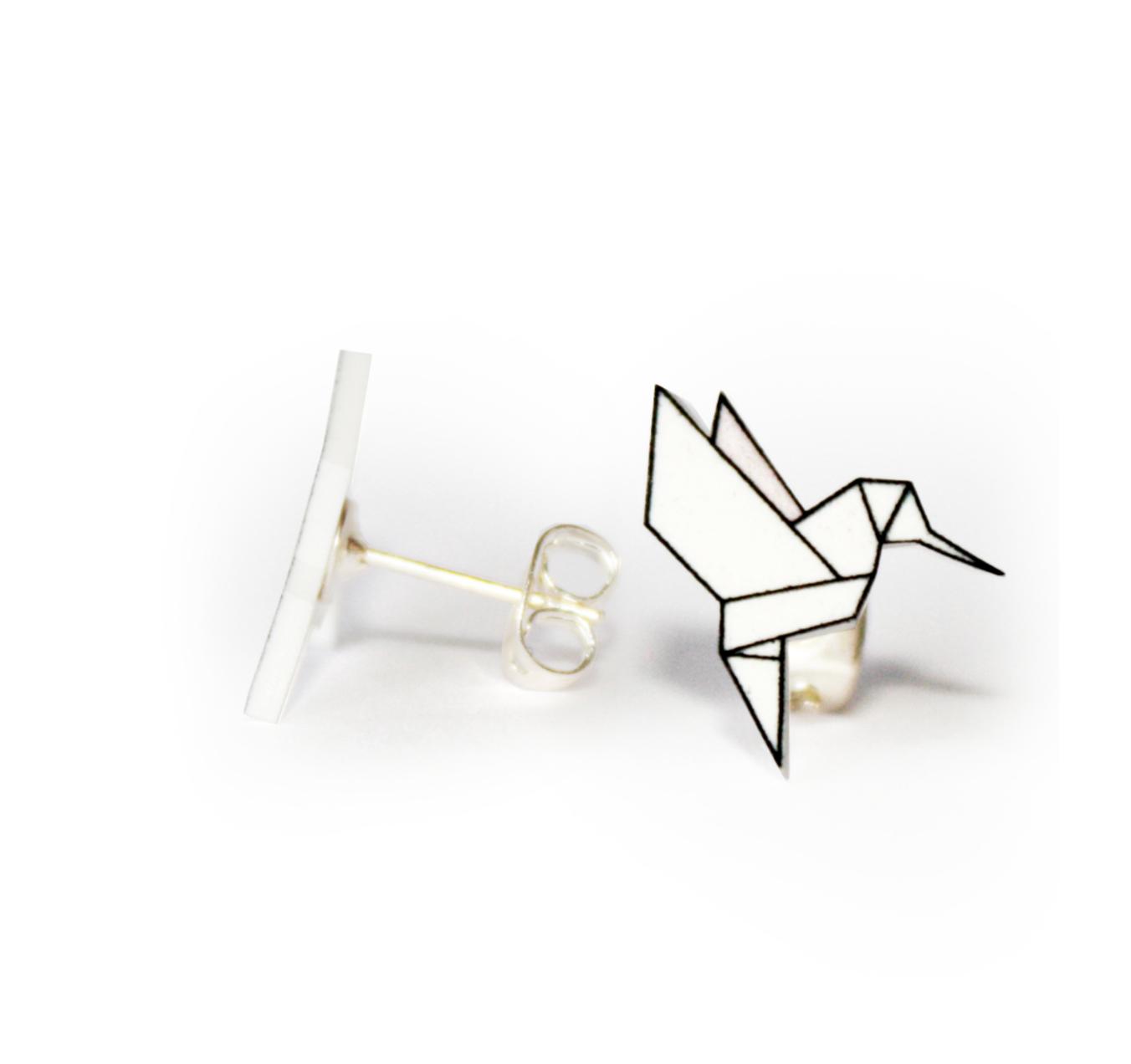 Origami Fly Coll.  / Hummingbird / White ori_fly_hum_white