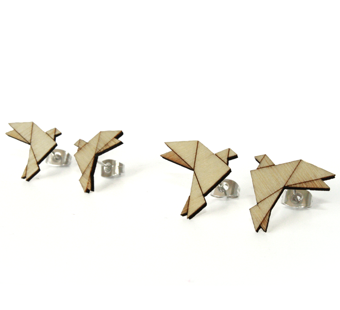 Origami Wood / Dove / big (UDGÅR!) ori_wo_do_bg