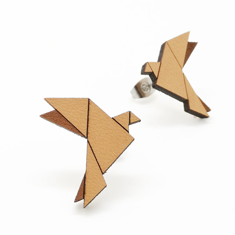 Origami / Leather / Dove / Nature / Big OrLeDoNaBi