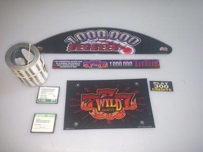 Bally S9000 Game Kit 100,000 Degrees 777 Wild 5 Reel w/Software