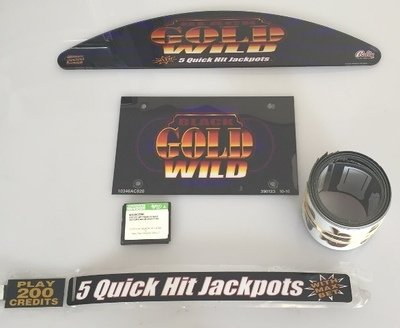 Bally S9000 Game Kit (Black & Gold Wild 5 Reel with Software)