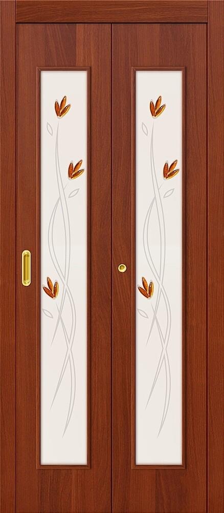 Дверь складная (книжка) межкомнатная ламинированная 22Х Л-11 ИталОрех