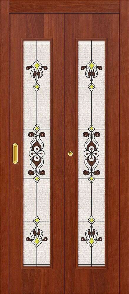Дверь складная (книжка) межкомнатная ламинированная 23Х Л-11 ИталОрех