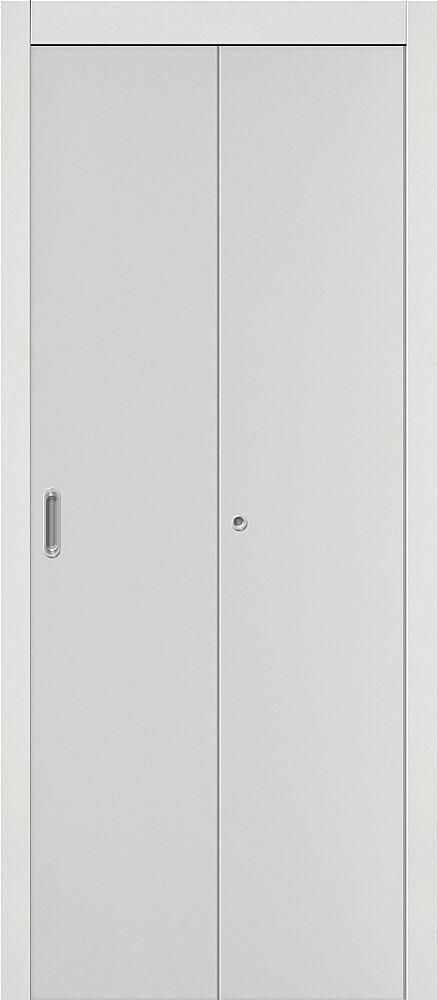 Дверь складная (книжка) межкомнатная ламинированная Гост Л-23 Белый