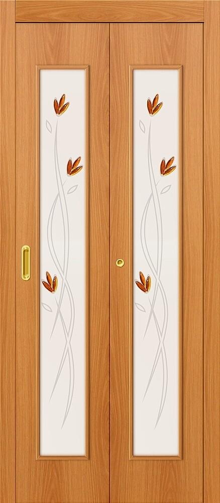 Дверь складная (книжка) межкомнатная ламинированная 22Х Л-12 МиланОрех