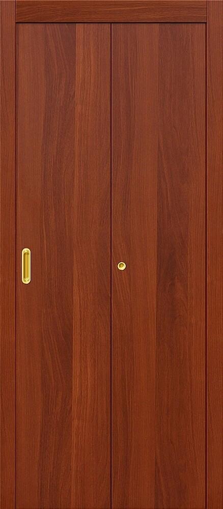 Дверь складная (книжка) межкомнатная ламинированная Гост Л-11 ИталОрех