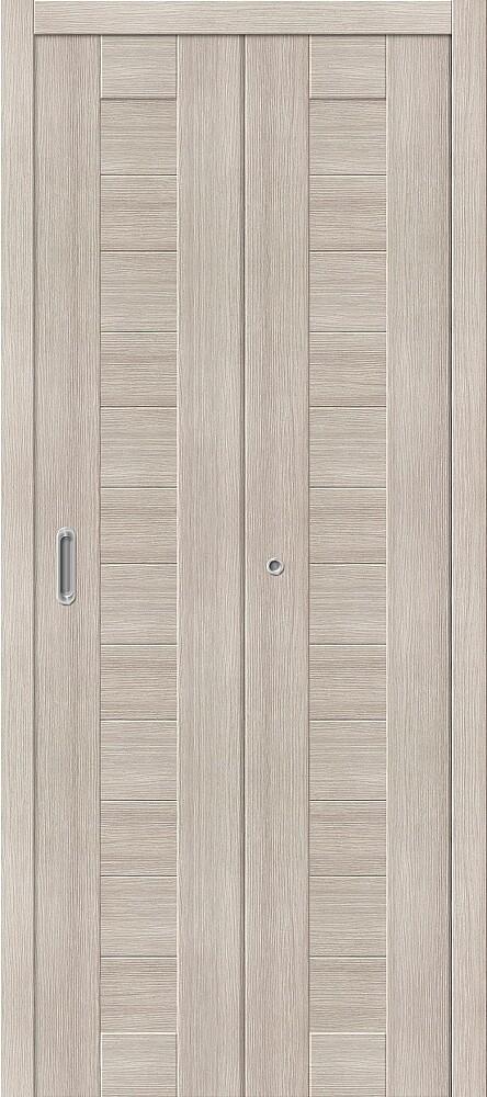 Дверь складная (книжка) межкомнатная Эко Шпон Порта-21 Cappuccino Veralinga