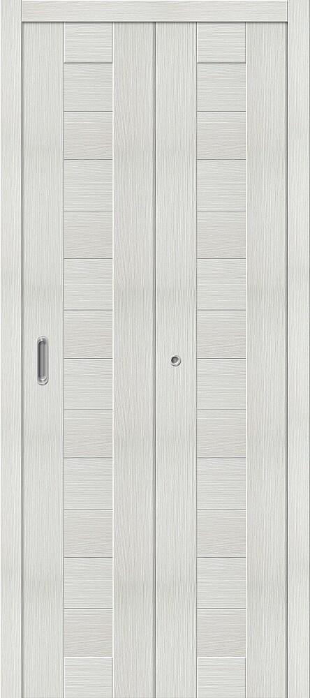Дверь складная (книжка) межкомнатная Эко Шпон Порта-21 Bianco Veralinga