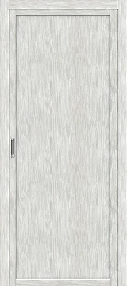 Дверь раздвижная межкомнатная Эко Шпон Твигги M1 Bianco Veralinga
