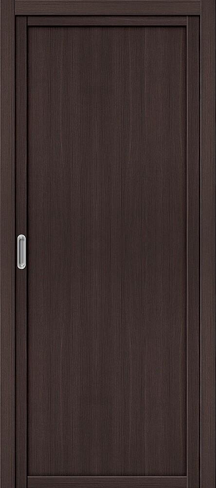Дверь раздвижная межкомнатная Эко Шпон Твигги M1 Wenge Veralinga