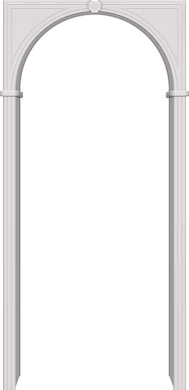Арка межкомнатная ПВХ Браво П-23 Белый