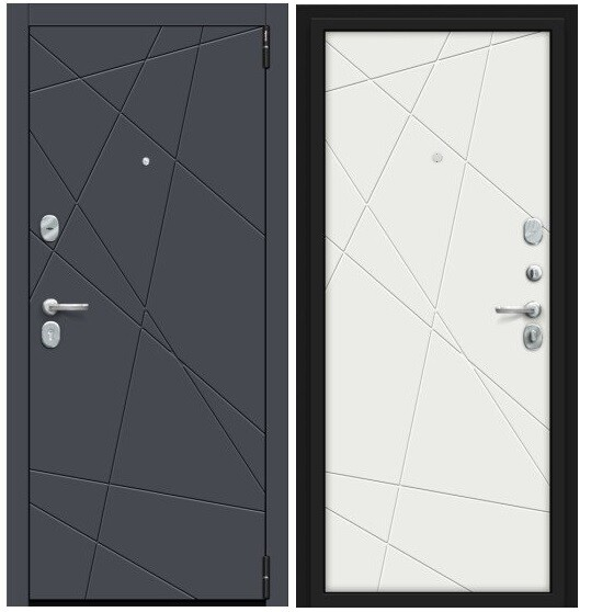 ВХОДНАЯ ДВЕРЬ Porta S 15.15 Graphite Pro/Super White /Браво/