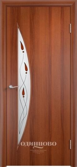 Межкомнатная ламинированная дверь Тип С-6 Витраж