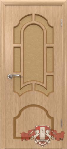 Межкомнатная дверь «Кристалл» 3ДР1 светлый дуб
