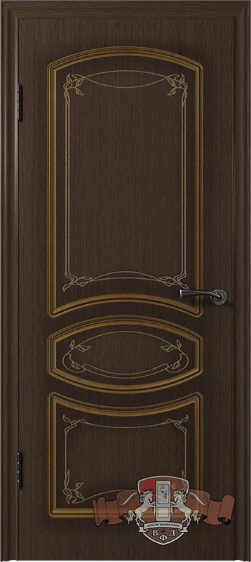 Межкомнатная дверь «Версаль» 13ДГ4 венге