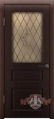 Межкомнатная дверь «Честер» 15ДО7  темный венге