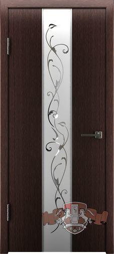Межкомнатная дверь «Токио» 16ДО7  венге зеркало №1