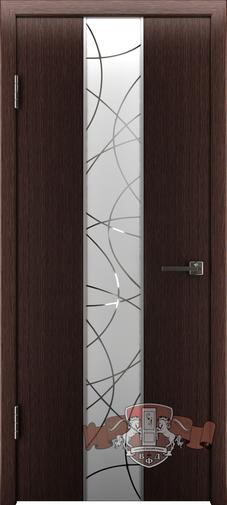 Межкомнатная дверь «Токио» 16ДО7  венге зеркало №2
