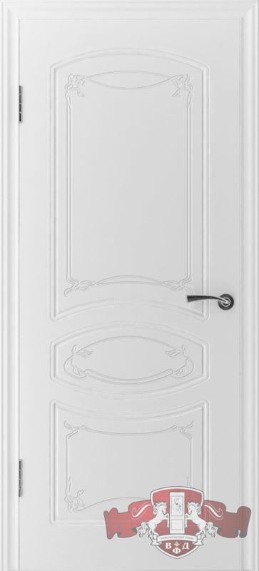 Межкомнатная дверь «Версаль» 13ДГ0 белая эмаль