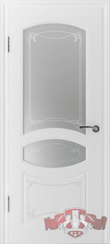 Межкомнатная дверь «Версаль» 13ДР0 белая эмаль