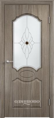 Межкомнатная дверь из скин экошпона Афина ДО Ромб Светлое