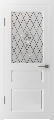 Межкомнатная дверь «Честер» 15ДО0 белая эмаль