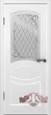 Межкомнатная дверь «Родена» 23ДР0 белая эмаль