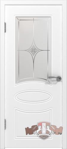 Межкомнатная дверь «Олимп» 21ДО0 белая эмаль