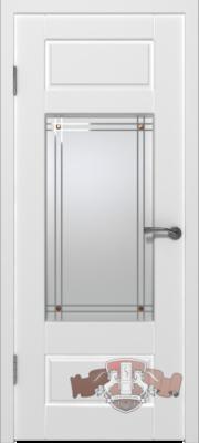 Межкомнатная дверь «Барселона» 22ДО0 белая эмаль