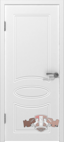 Межкомнатная дверь «Олимп» 21ДГ0 белая эмаль