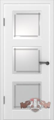 Межкомнатная дверь «Трио» 19ДО0 белая эмаль