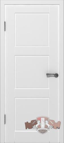 Межкомнатная дверь «Трио» 19ДГ0 белая эмаль